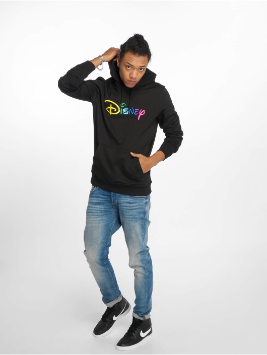 Merchcode Sweat capuche Disney Rainbow Logo Emb noir