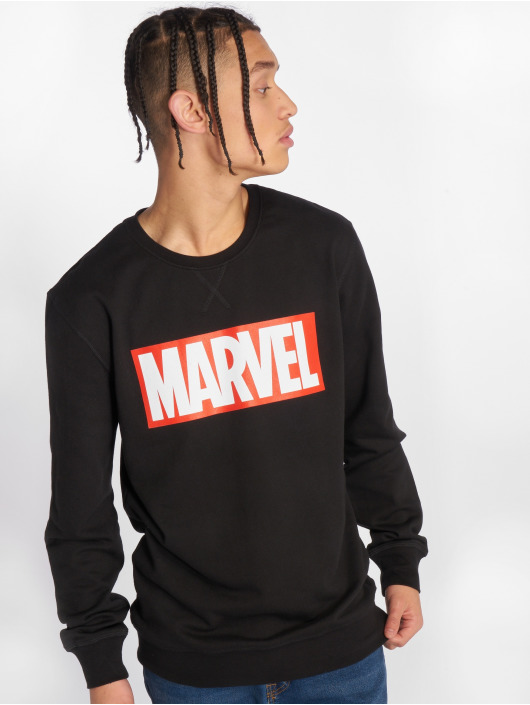 Merchcode Swetry Marvel Logo czarny