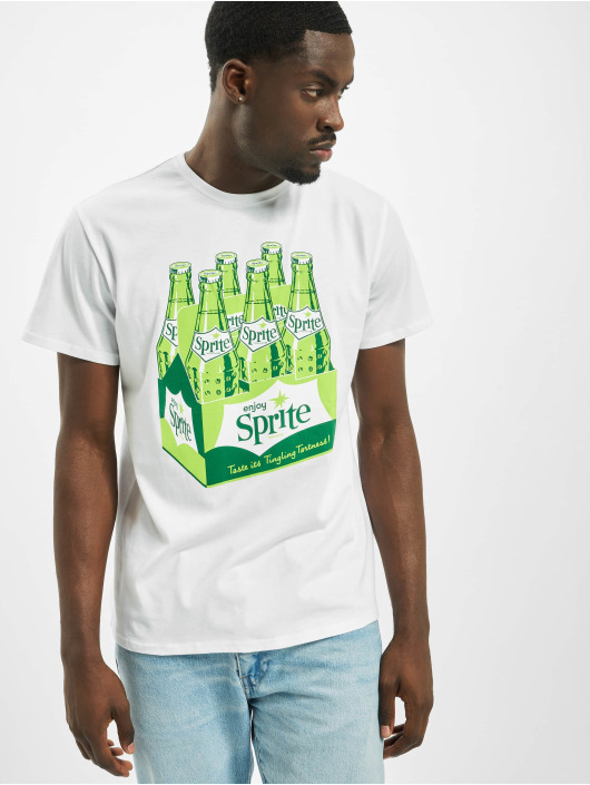 Merchcode T-shirt Sprite Bottles bianco