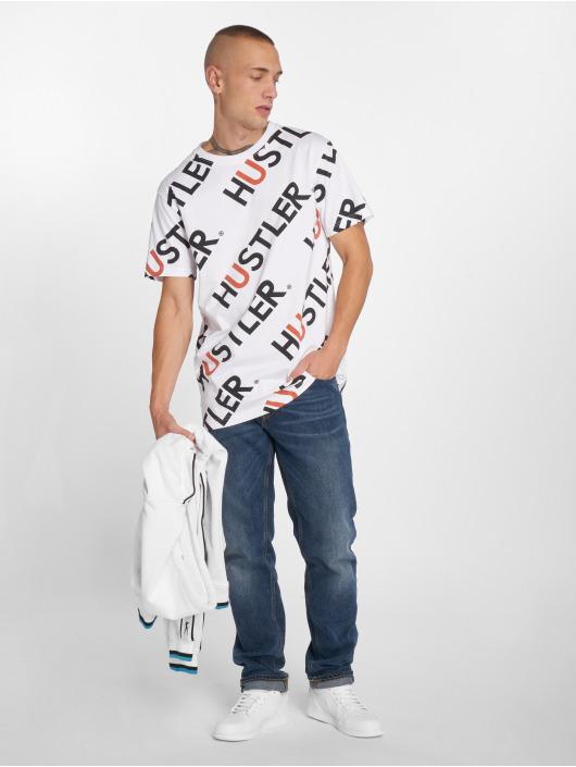 Merchcode T-Shirt Hustler AOP blanc