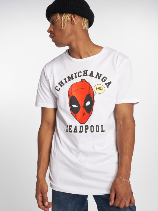 Merchcode T-Shirt Deadpool Chimichanga blanc