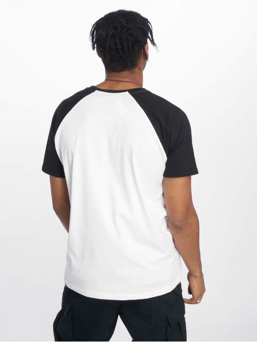 Merchcode T-Shirt Santa Muerte Raglan Tee blanc