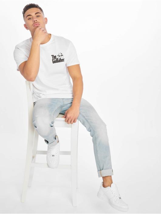 Merchcode T-Shirt Godfather Wine blanc
