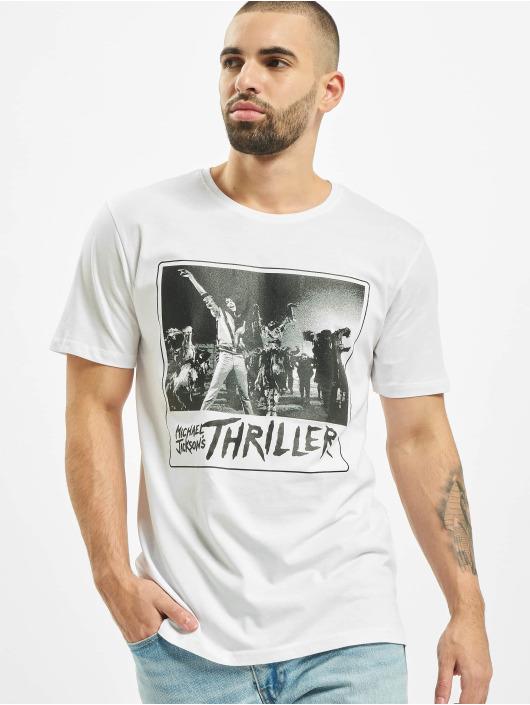 Merchcode T-Shirt Michael Jackson Cover blanc