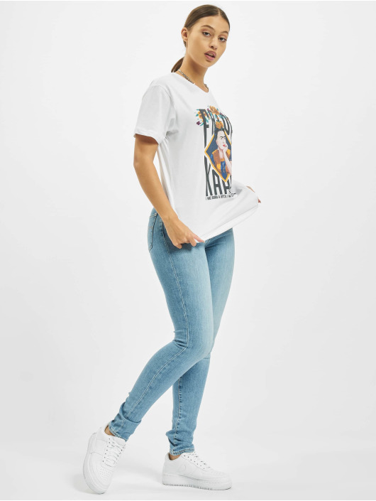 Merchcode T-Shirt Frida Kahlo Born blanc