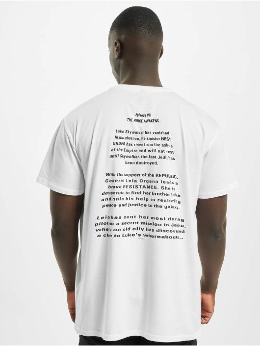 Merchcode T-Shirt Star Wars Crawl blanc