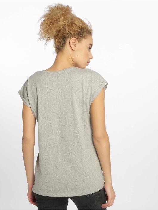 Merchcode T-Shirt Ladies Gorillaz Logo grau
