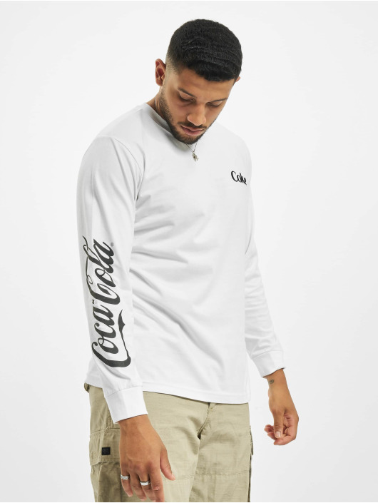 Merchcode T-Shirt manches longues Coca Cola Drinking Coke blanc