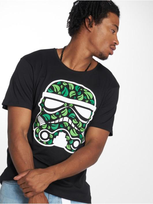 Merchcode T-Shirt Stormtrooper Leaves noir