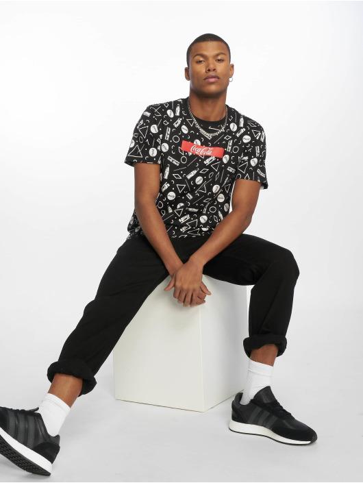Merchcode T-Shirt Coca Cola Aop Box Logo noir