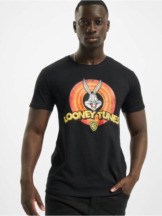 Merchcode T-Shirt Looney Tunes Bugs Bunny Logo noir