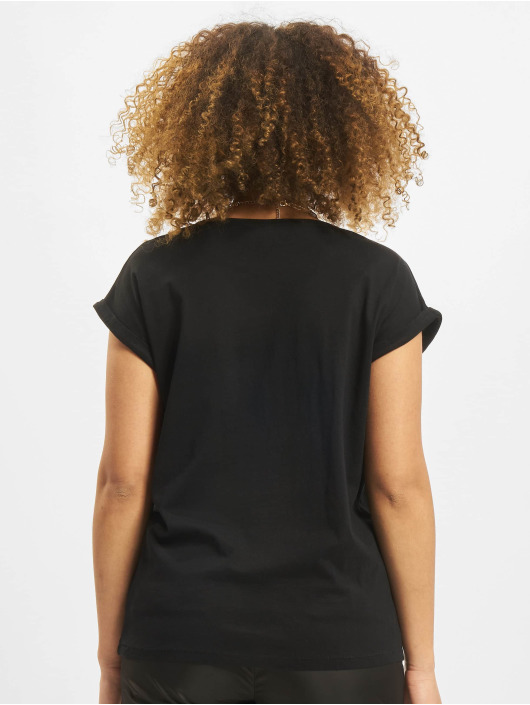 Merchcode T-Shirt Ladies Kiss schwarz
