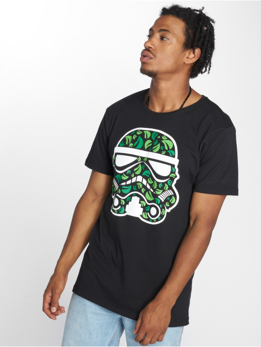 Merchcode T-Shirt Stormtrooper Leaves schwarz