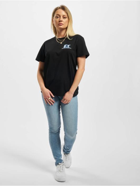Merchcode T-Shirt Ladies E.T. Logo And Space schwarz
