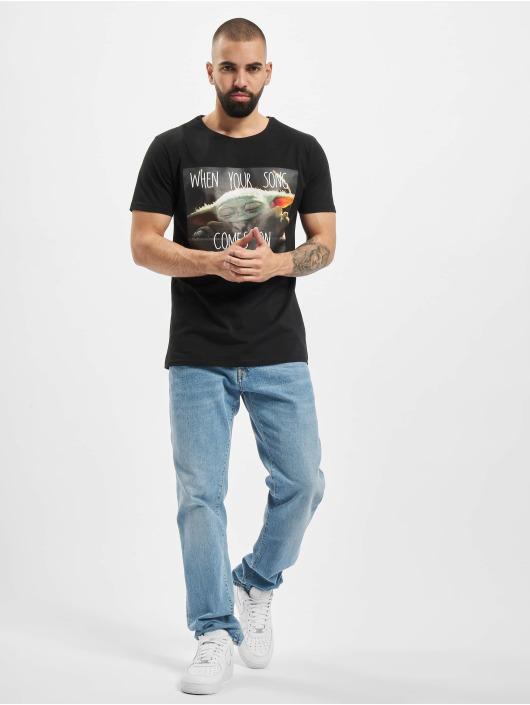 Merchcode T-Shirt Baby Yoda Song schwarz