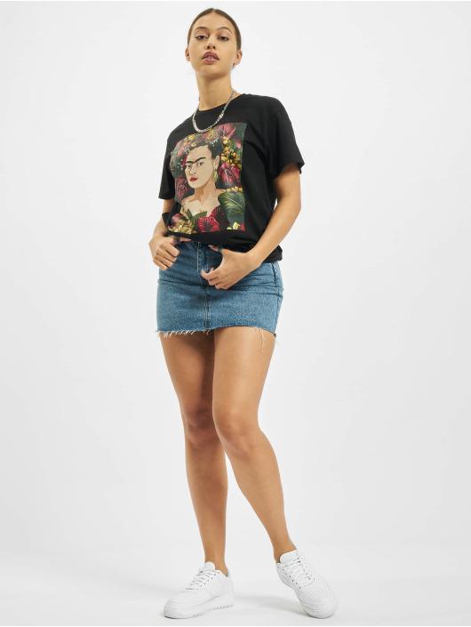 Merchcode T-Shirt Frida Kahlo Portrait schwarz