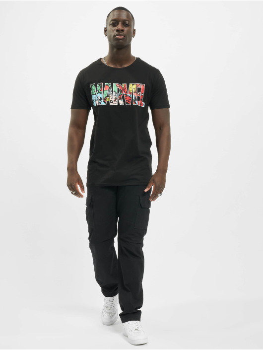Merchcode T-Shirt Marvel Logo Character schwarz