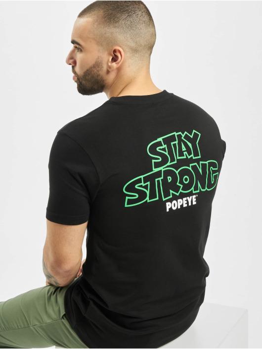 Merchcode T-shirt Popeye Stay Strong svart