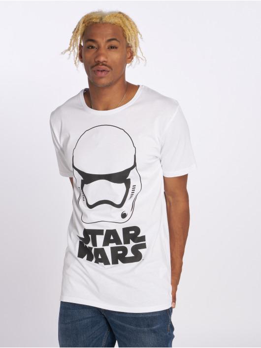 Merchcode T-Shirt Star Wars Helmet weiß