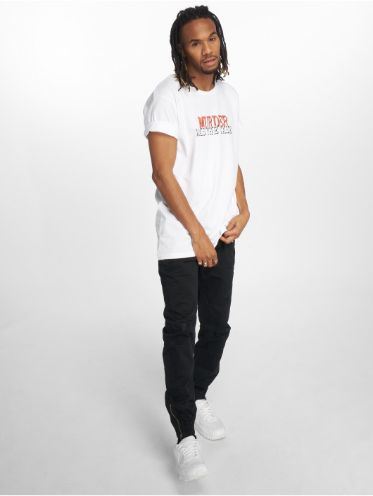 Merchcode T-Shirt Snoop Dogg Collage weiß