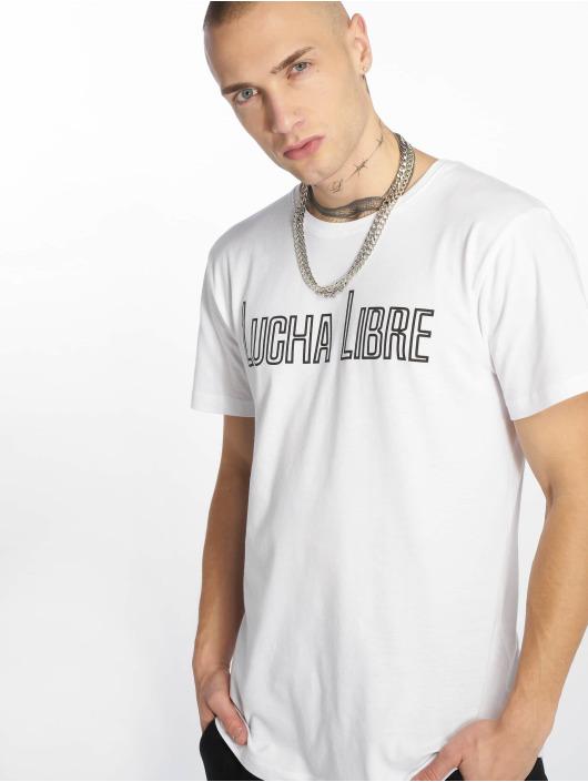 Merchcode T-Shirt Lucha Libre weiß