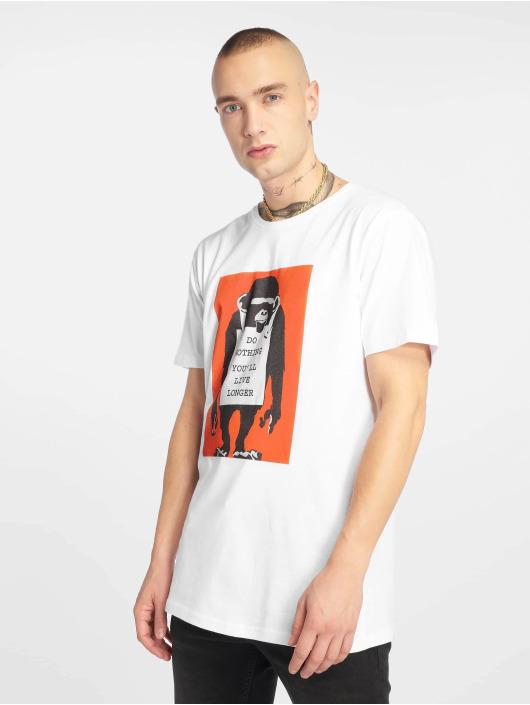 Merchcode T-Shirt Banksy Do Nothing weiß