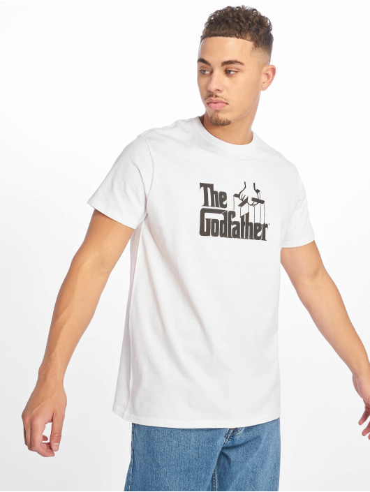 Merchcode T-Shirt Godfather Logo weiß