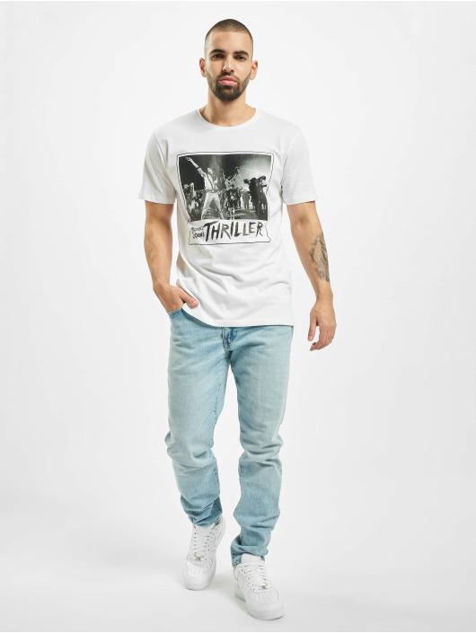 Merchcode T-Shirt Michael Jackson Cover weiß