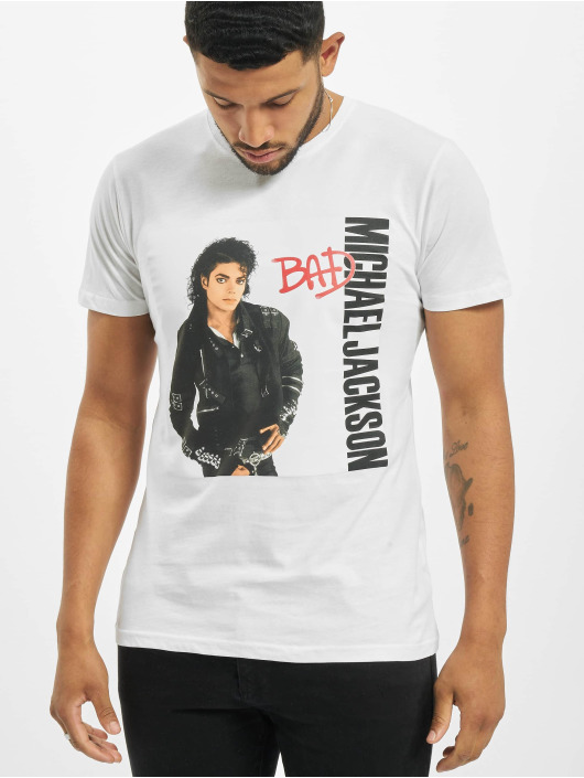 Merchcode T-Shirt Michael Jackson Bad weiß