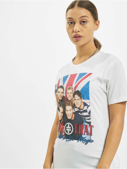 Merchcode T-Shirt Take That Group Photo weiß