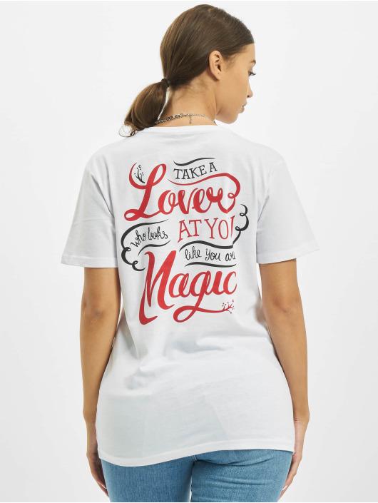 Merchcode T-Shirt Frida Kahlo Magic weiß