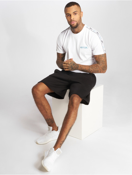 Merchcode T-Shirt Hustler Sidetape white
