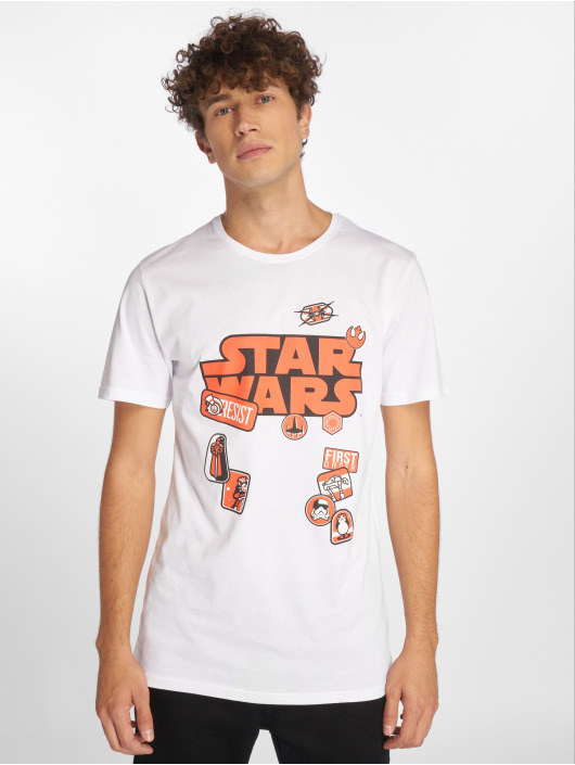 Merchcode T-Shirt Star Wars Patches white