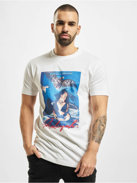 Merchcode T-Shirt Aaliyah One In A Million white