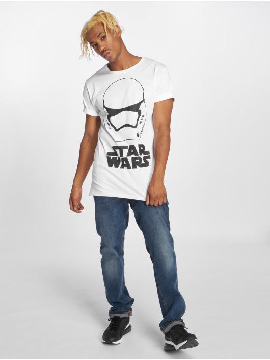 Merchcode t-shirt Star Wars Helmet wit