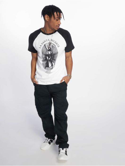 Merchcode t-shirt Santa Muerte Raglan Tee wit