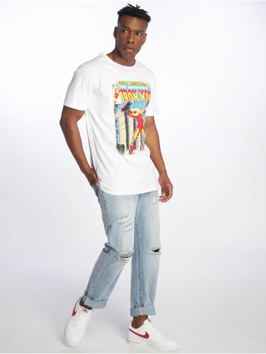 Merchcode t-shirt Iron Man Cover wit