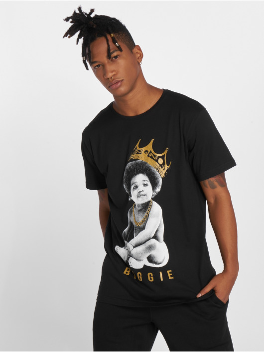 Merchcode t-shirt Biggie Crown Child zwart