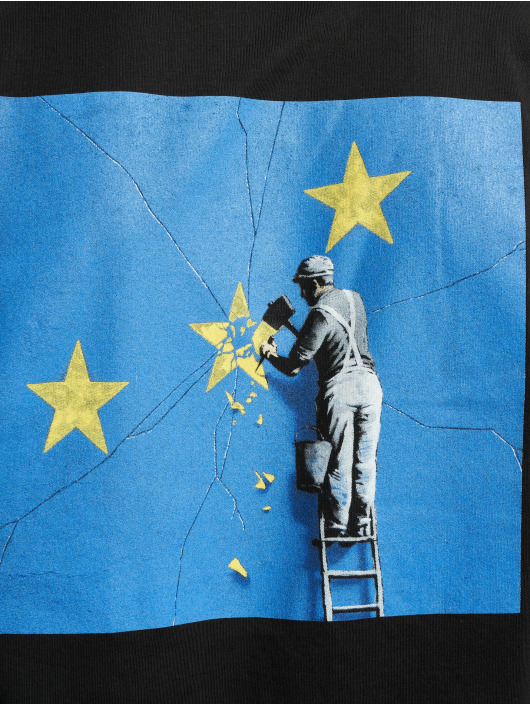 Merchcode t-shirt Banksy Europe zwart
