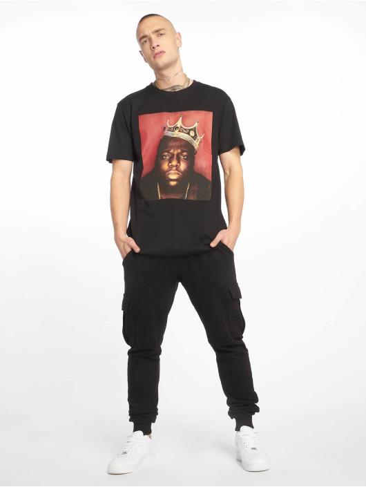 Merchcode t-shirt Notorious B.I.G. Crown zwart