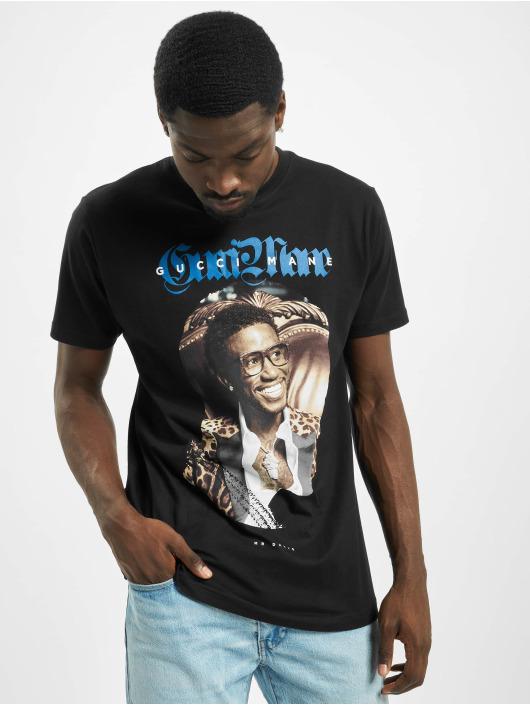 Merchcode t-shirt Gucci Mane Leopard zwart