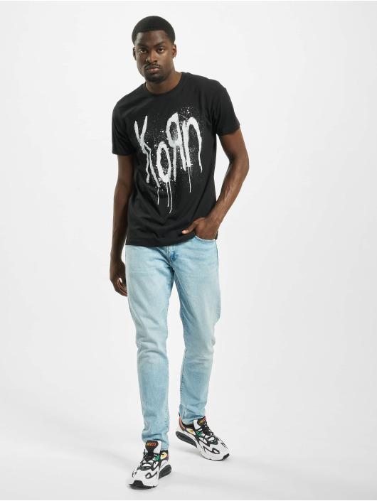Merchcode t-shirt Korn Still A Freak zwart