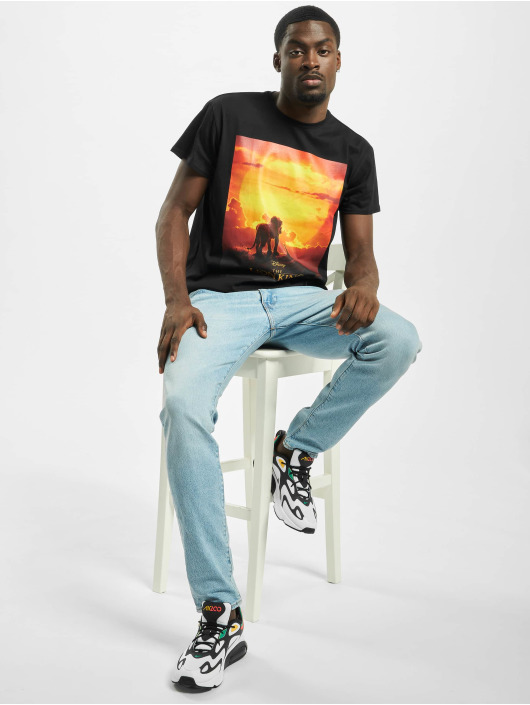 Merchcode t-shirt Lion King Sunset zwart