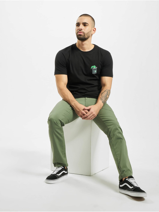 Merchcode t-shirt Popeye Stay Strong zwart