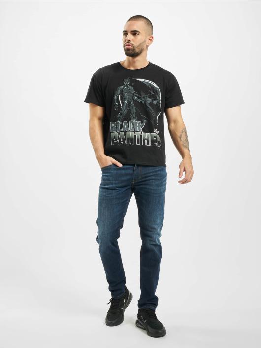 Merchcode t-shirt Black Panther Logo zwart