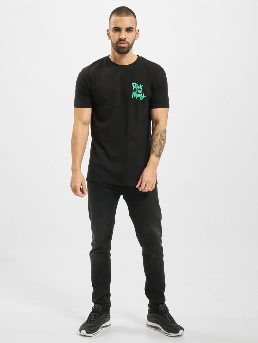 Merchcode t-shirt Rick And Morty Smiths Family zwart