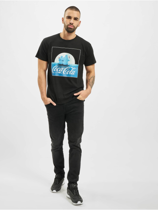 Merchcode t-shirt Coca Cola Polarbears zwart