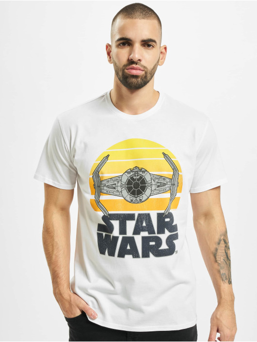 Merchcode T-shirts Star Wars Sunset hvid