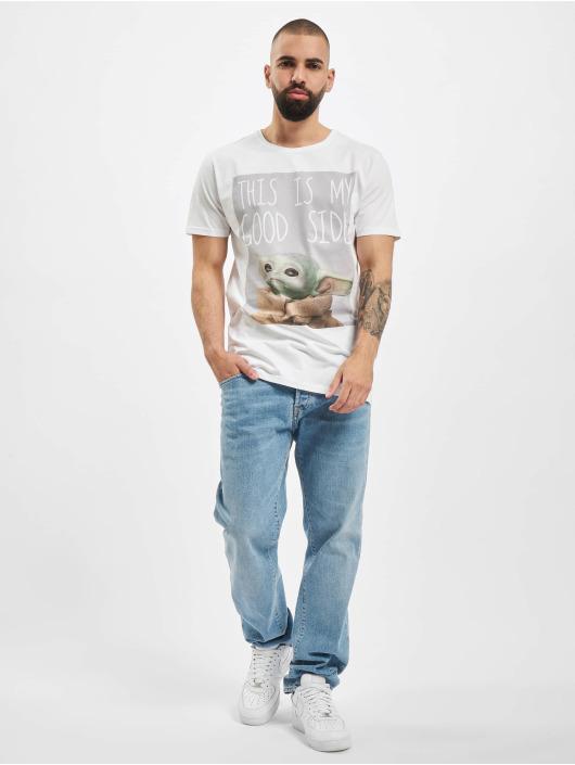 Merchcode T-shirts Baby Yoda Good Side hvid