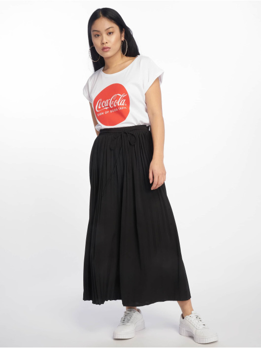 Merchcode T-Shirty Coca Cola Round Logo bialy